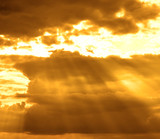 stormy cloud with sun rays poster