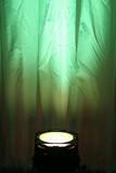 green spotlight poster