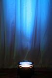 blue spotlight poster