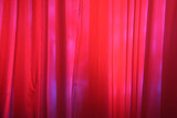 red stage curtains poster