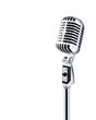 Leinwandbild Motiv professional ''retro'' microphone