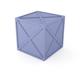 blaue kiste - freigestellt