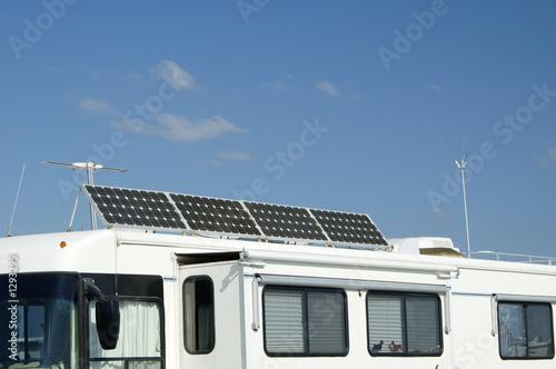Leinwanddruck Bild camping with solar 5