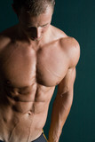 body builder abs poster