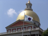 daylight photo of statehouse dome poster
