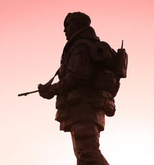 soldier at twilight