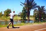 man running poster