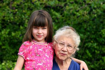 girl with grandmother
