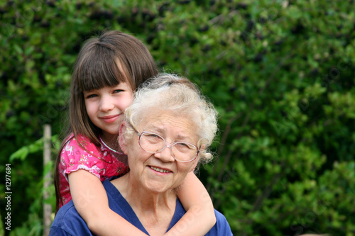 girl with grandmother
