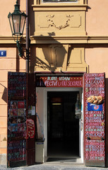 small store in praha, czech, europe