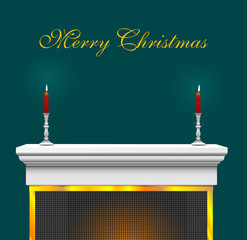 christmas mantle background
