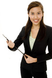 businesswoman with file poster