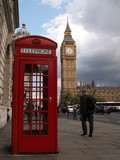 businessman london phone big ben poster