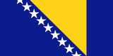 flag of bosnia herzegovina poster