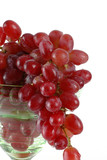 bunch of grapes in a wine glass poster