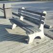 sunny park bench