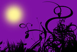 purple halloween backgrouns poster
