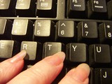 computer keys poster