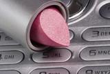 lipstick on cellphone poster