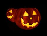 glowing pumpkins poster