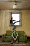 teen couple impoverished apartment poster