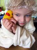 rubber ducky girl poster
