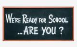 school blackboard sign poster