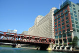 chicago river and merchandise mart poster