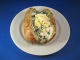 baked potato with sour cream and chives 2 poster