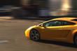 canvas print picture - fast sport car