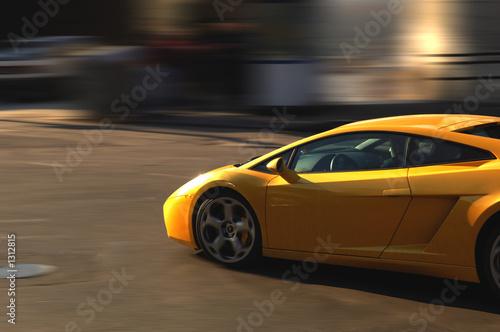 canvas print picture fast sport car
