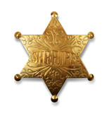 sheriff badge with path poster