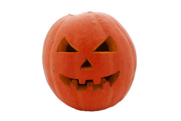 face of halloween pumpkin
