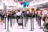 Fototapety airport crowd