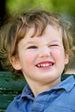 cheerful blinking child poster
