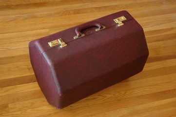 wooden drum carrying case or suitcase