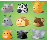 cartoon safari animals poster