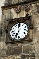 old clock on prague