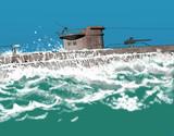 submarine surfacing poster