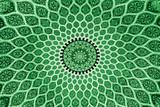 green persian design poster