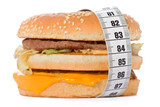 hamburger wrapped around a measurement tape poster