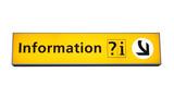 information sign poster