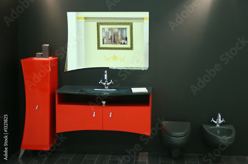 black red toilet