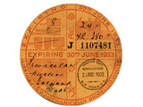 vintage tax disc poster