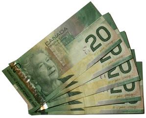 canadian dollars bank notes 20
