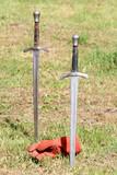 swords and gauntlet poster