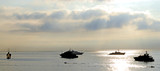 luxury yachts at anchor off monte carlo