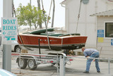 boat on trailer poster