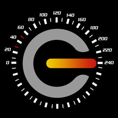speedometer&power button
