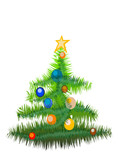 new year tree(great for banner and card) poster
